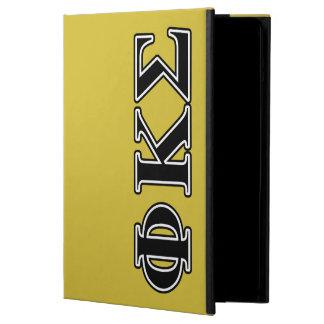 Phi Kappa Sigma Black Letters iPad Air Cases