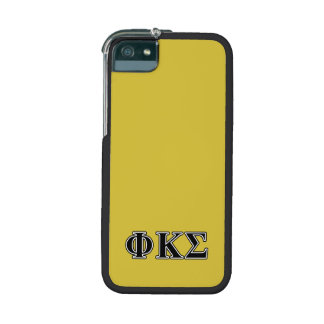 Phi Kappa Sigma Black Letters iPhone 5/5S Case