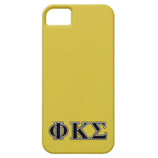 Phi Kappa Sigma Black Letters iPhone 5 Covers