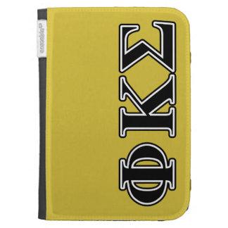 Phi Kappa Sigma Black Letters Kindle Covers