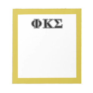 Phi Kappa Sigma Black Letters Notepad
