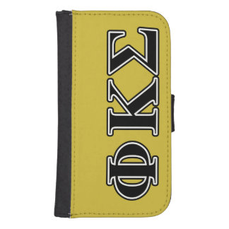 Phi Kappa Sigma Black Letters Phone Wallets