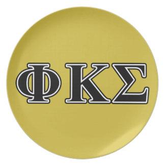 Phi Kappa Sigma Black Letters Plate