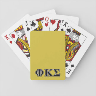 Phi Kappa Sigma Black Letters Playing Cards