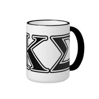Phi Kappa Sigma Black Letters Ringer Mug