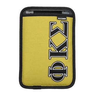 Phi Kappa Sigma Black Letters Sleeve For iPad Mini