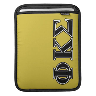 Phi Kappa Sigma Black Letters Sleeves For iPads