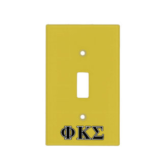 Phi Kappa Sigma Black Letters Switch Plate Covers
