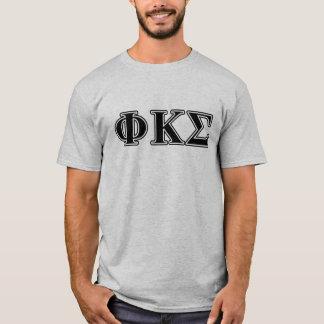 Phi Kappa Sigma Black Letters T-Shirt