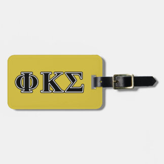 Phi Kappa Sigma Black Letters Tags For Luggage