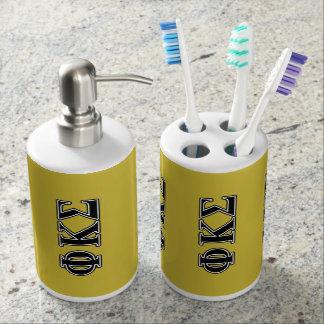 Phi Kappa Sigma Black Letters Toothbrush Holders