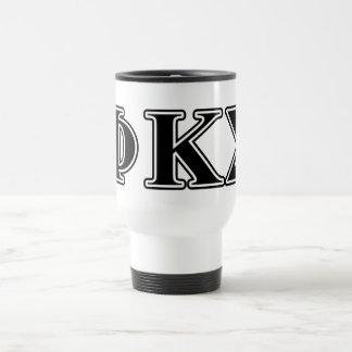 Phi Kappa Sigma Black Letters Travel Mug