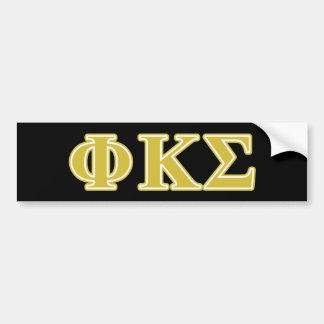 Phi Kappa Sigma Gold Letters Car Bumper Sticker