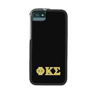 Phi Kappa Sigma Gold Letters Case For iPhone 5