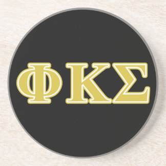 Phi Kappa Sigma Gold Letters Coaster