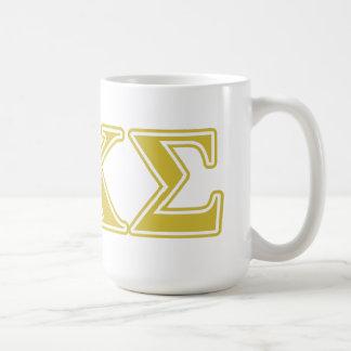 Phi Kappa Sigma Gold Letters Coffee Mug