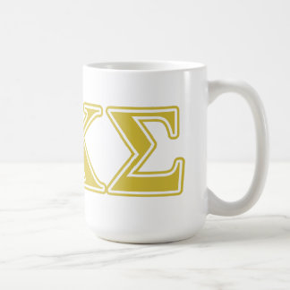 Phi Kappa Sigma Gold Letters Coffee Mugs