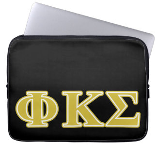 Phi Kappa Sigma Gold Letters Computer Sleeve