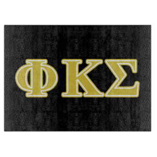 Phi Kappa Sigma Gold Letters Cutting Boards