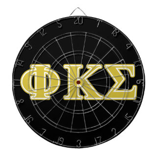 Phi Kappa Sigma Gold Letters Dartboard With Darts