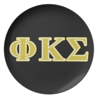 Phi Kappa Sigma Gold Letters Dinner Plates