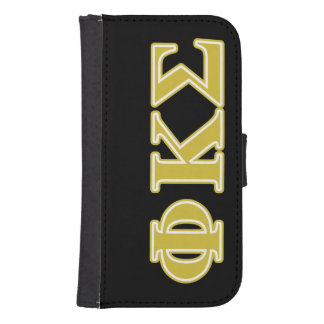 Phi Kappa Sigma Gold Letters Galaxy S4 Wallet