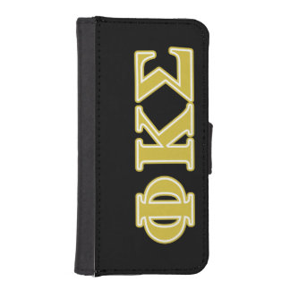 Phi Kappa Sigma Gold Letters iPhone 5 Wallet
