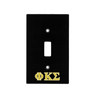 Phi Kappa Sigma Gold Letters Light Switch Plates