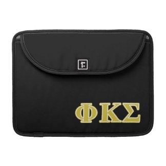 Phi Kappa Sigma Gold Letters MacBook Pro Sleeve