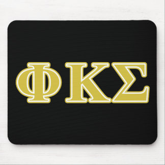 Phi Kappa Sigma Gold Letters Mousepads