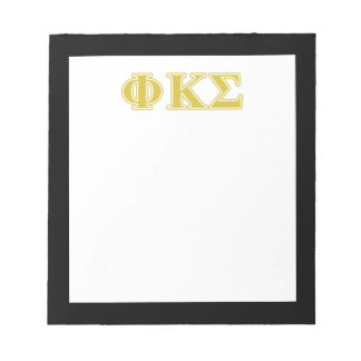 Phi Kappa Sigma Gold Letters Notepad