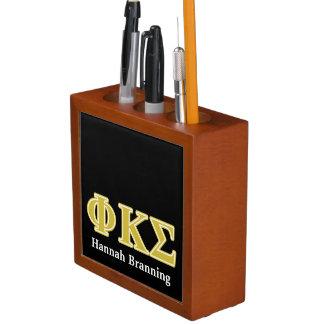 Phi Kappa Sigma Gold Letters Pencil/Pen Holder