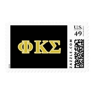 Phi Kappa Sigma Gold Letters Postage Stamp