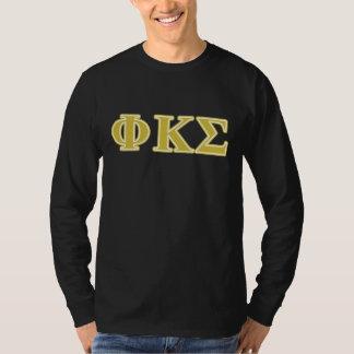 Phi Kappa Sigma Gold Letters T-Shirt