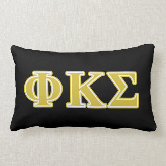 Phi Kappa Sigma Gold Letters Throw Pillows