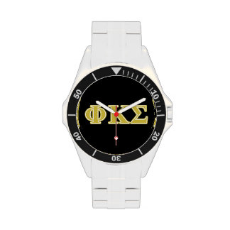 Phi Kappa Sigma Gold Letters Wrist Watch