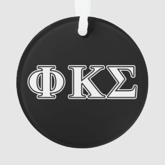 Phi Kappa Sigma White and Black Letters