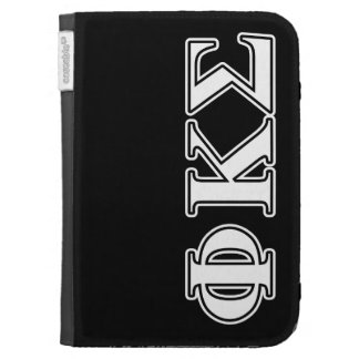 Phi Kappa Sigma White and Black Letters Kindle Keyboard Covers