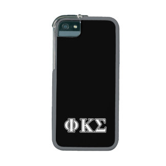 Phi Kappa Sigma White and Black Letters Cover For iPhone 5