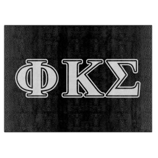 Phi Kappa Sigma White and Black Letters Cutting Board