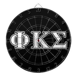 Phi Kappa Sigma White and Black Letters Dart Boards