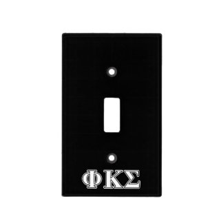 Phi Kappa Sigma White and Black Letters Switch Plate Cover