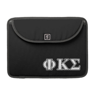 Phi Kappa Sigma White and Black Letters Sleeves For MacBooks