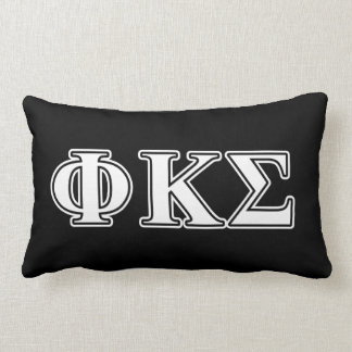 Phi Kappa Sigma White and Black Letters Pillow