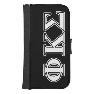 Phi Kappa Sigma White and Black Letters Phone Wallets