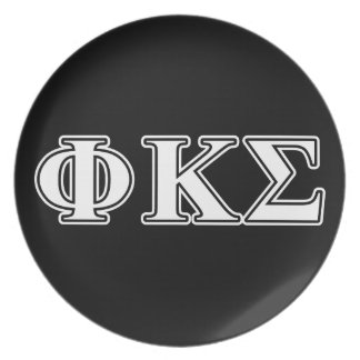 Phi Kappa Sigma White and Black Letters Plates