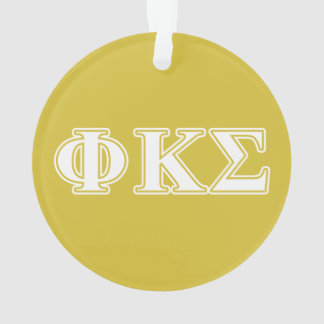 Phi Kappa Sigma White and Gold Letters