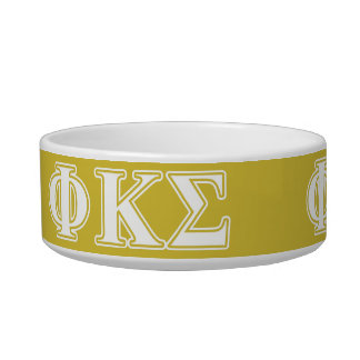 Phi Kappa Sigma White and Gold Letters Bowl