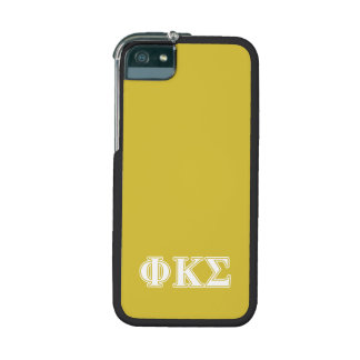 Phi Kappa Sigma White and Gold Letters iPhone 5/5S Cover