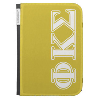 Phi Kappa Sigma White and Gold Letters Kindle 3G Cases